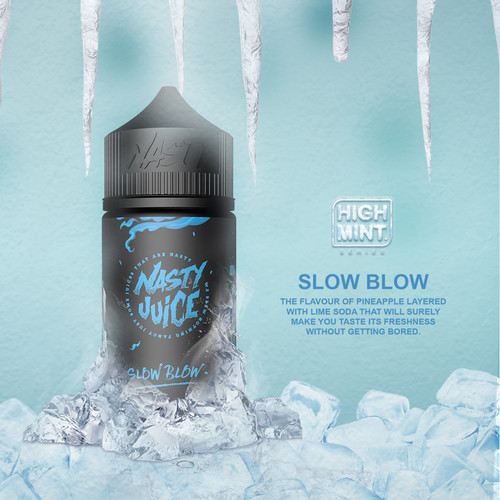 ● [Nasty High Mint] 슬로우 블로우/Slow Blow (70VG) 60ml